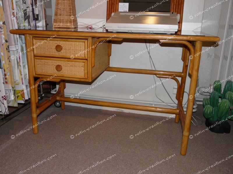 Bureau fontenay miel bureau avec tiroirs promotion